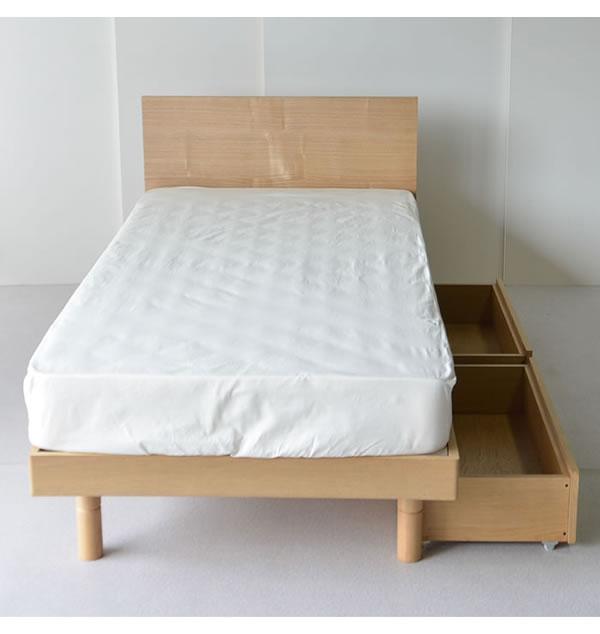 オーク突板仕様高さ調整付きフラットパネル付きすのこベッド【Gollum】ゴーラム お買い得ベッドシリーズを通販で激安販売