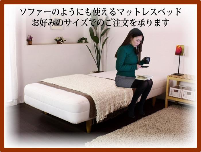 1cm単位でオーダー可能!日本製オーダーメイドポケットコイルマットレスベッド 293 激安通販