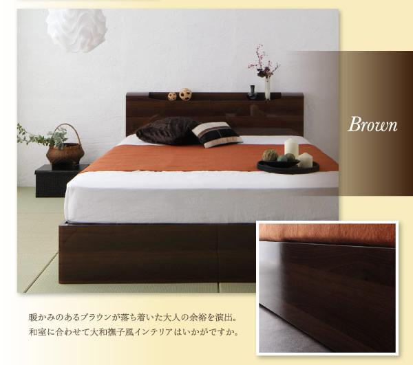 鏡面が美しいハイグロス収納ベッド【Champanhe】シャンパニエを通販で激安販売