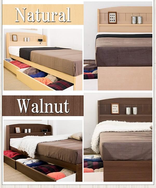 シンプルデザインカントリー調収納ベッド【Claire】クレアを通販で激安販売