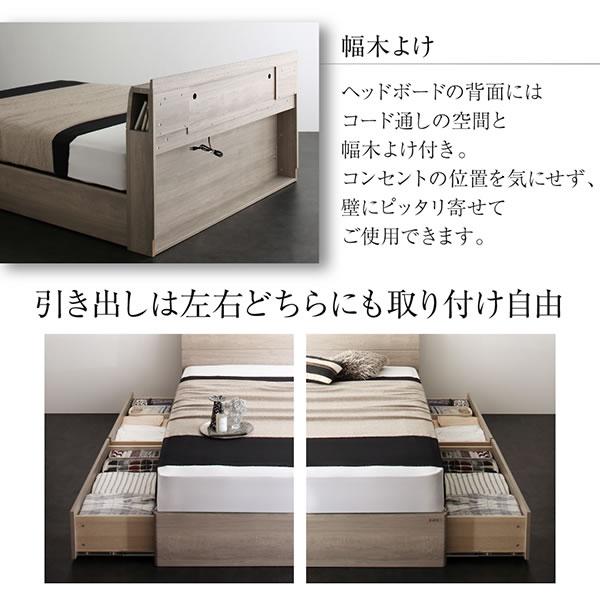 おしゃれなニュアンスカラー採用BOX型収納ベッド 【Anton】 LED照明付きを通販で激安販売