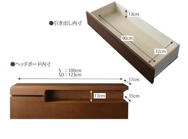 夫婦の寝室におすすめ!アシンメトリーデザイン高級連結ベッド【Vivre】ヴィーヴル BOX収納付きを通販で激安販売