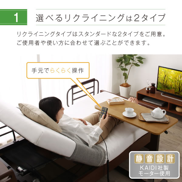 照明・収納付き電動ベッド【Glen】グレン 静穏設計を通販で激安販売