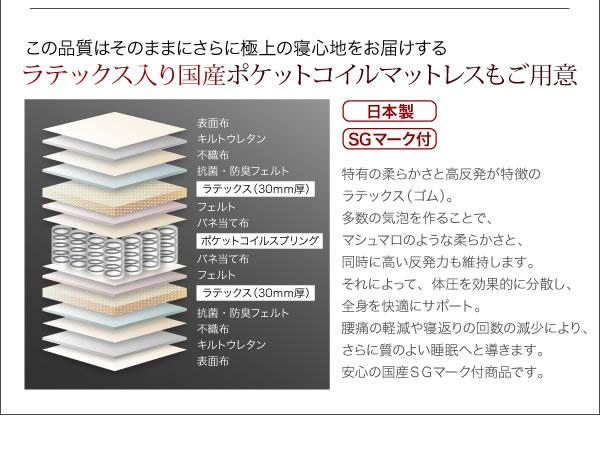 モダンライト・コンセント付き収納ベッド【Yuan】ユアン 激安通販