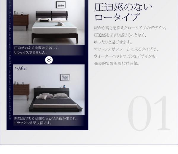 棚&4口コンセント付きステージデザインフロアベッド【Aster】アステルを通販で激安販売