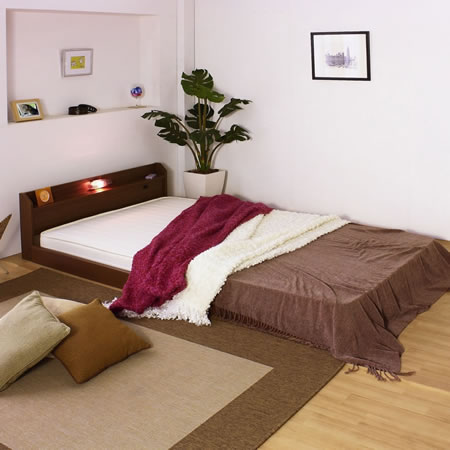 棚 コンセント 照明付フロアベッド268ロングサイズ イメージ