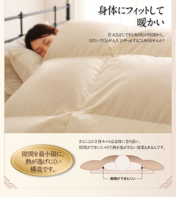 日本製防カビ消臭 プレミアムゴールドラベル 羽毛布団 8点セット【Noiva】ノイヴァを通販で激安販売