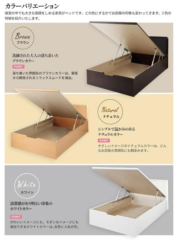 高品質日本製ガス圧式収納ベッド【Melvin】フラットパネル お買い得価格シリーズを通販で激安販売