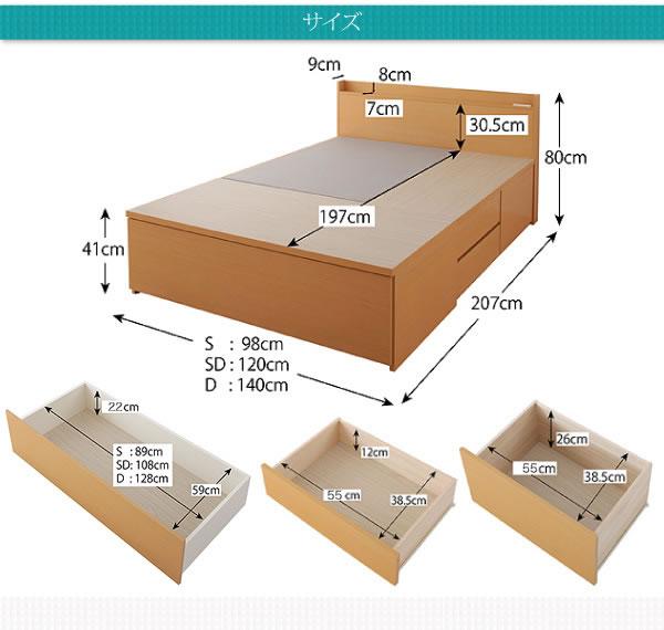 開墾設置対応:国産:布団が収納できるチェストベッド【Gloria】グローリア 激安通販