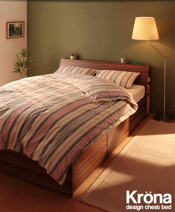 北欧デザインBOXタイプチェストベッド【Krona】クルーナ/【Hoge】ホーグを通販で激安販売