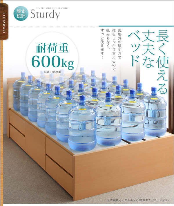 頑丈ベッドシリーズ【Tough】タフ 日本製BOX型チェストベッドを通販で激安販売