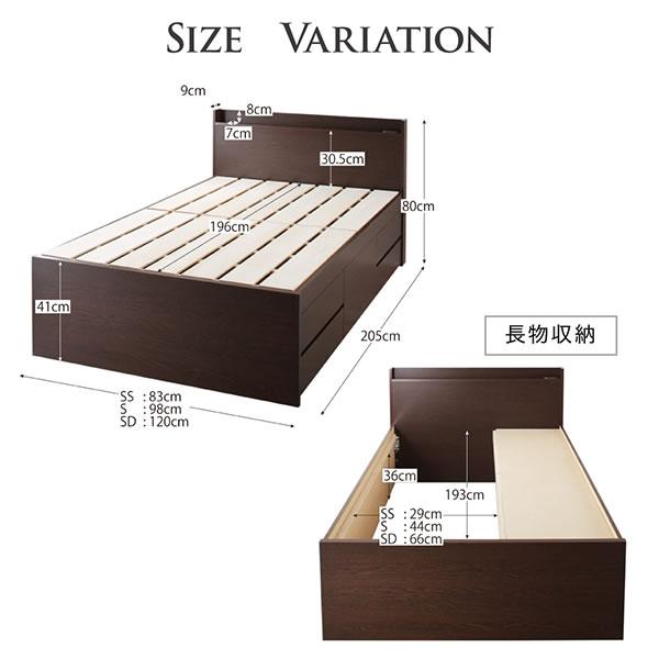 頑丈ベッドシリーズ【Tough】タフ 日本製 布団干し対応BOX型チェストベッドを通販で激安販売
