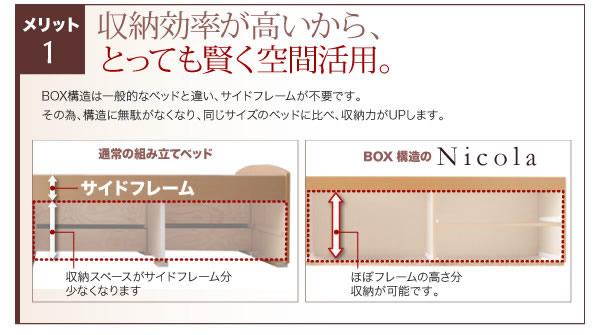 日本製大容量すのこチェストベッド【Salvato】サルバトを通販で激安販売