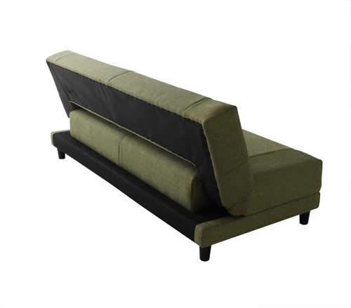 寝心地抜群コイルスプリングソファーベッド 背面もすっきり