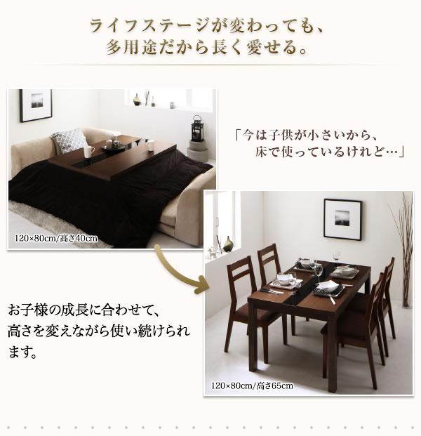 高さ調整付きモダンデザインこたつテーブル【Arnold】アーノルドを通販で激安販売